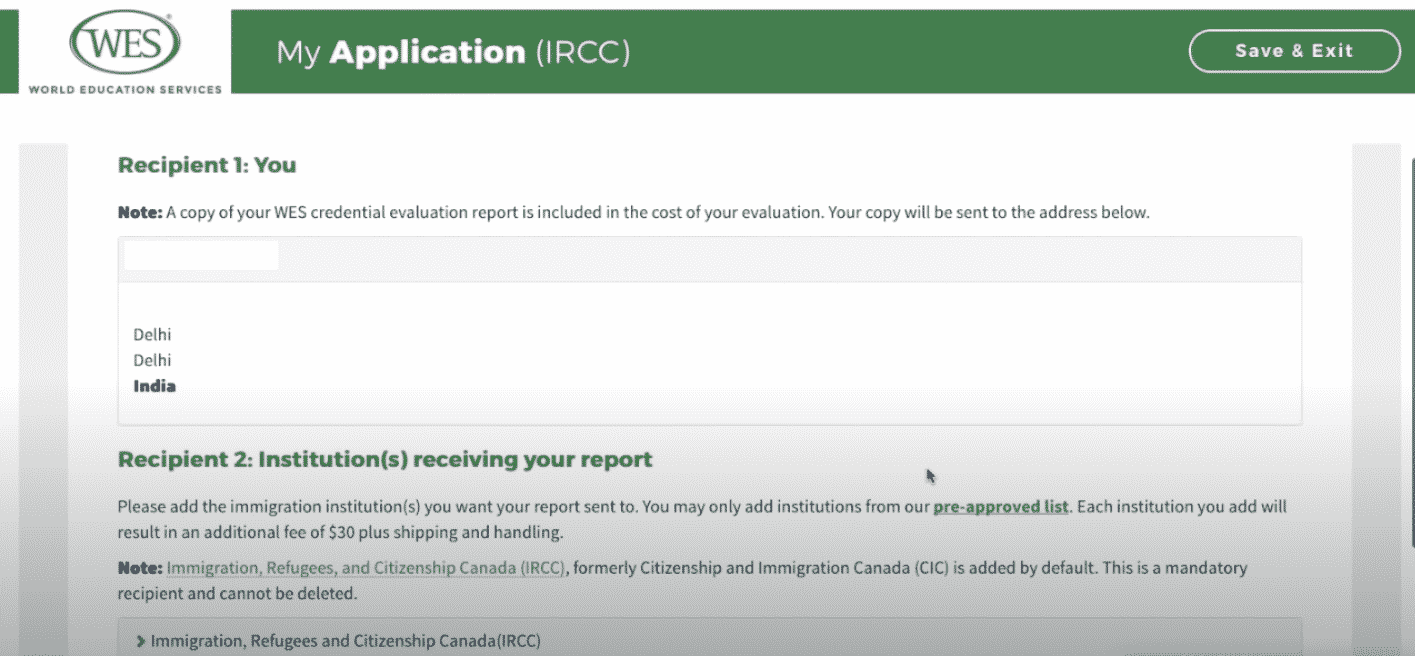 Step 5-WES-Application-CheckRecipients